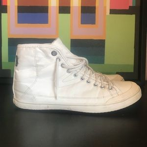 Tretorn White High Tops size 9